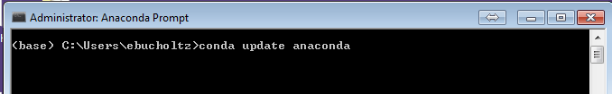 conda update anaconda